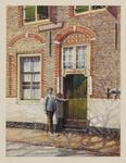 VERHEUL-NR-142 De hoofdingang van boerderij Middel-Huyse aan de Holyweg in Vlaardinger Ambacht.Eigenaar, bewoner Joh. ...