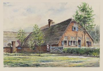 VERHEUL-NR-163 Boerderij, aan de Berkenwoudschehuisweg in Berkenwoude.Eigenaar: C.A. de Vries.