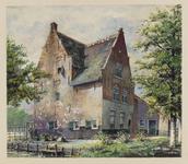 VERHEUL-NR-167 De voorzijde van een boerderij, aan de Langeweg in Oud-Beijerland, gebouwd in 1617.Eigenaars: gebr. Verhagen.