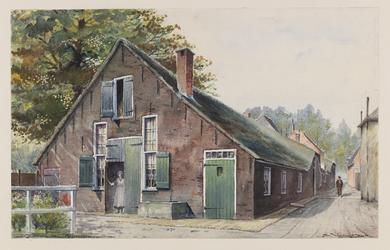 VERHEUL-NR-185 Boerderij, aan de Krommehaven in Oudewater.Eigenaar: A. de Ruiter.