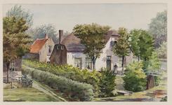 VERHEUL-NR-214 Boerenwonig, bewoond door drie gezinnen, aan de Waal, binnen de IJsseldijk in Moordrecht.De woning ...