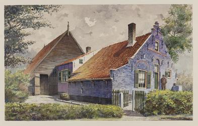 VERHEUL-NR-220 Boerderij Het Blauwe Huis, ook wel genoemd: 't Koote Steetje, in Ouddorp, gebouwd in 1659.Eigenaar: ...