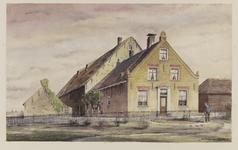 VERHEUL-NR-239 Boerderij De Roode Stee, aan de Brielschestraatweg in Nieuwenhoorn.Eigenaar: C. Touw.