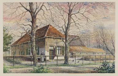 VERHEUL-NR-249 Boerderij Stuyve-Zande, aan de Rietdijk in Rockanje, anno 1701.Eigenaar: wed. P. Kome.