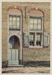 VERHEUL-NR-291 Hoofdingang van een boerderij, Oosteinde te Berkenwoude.Eigendom van A. SpeksnijderAnno 1667