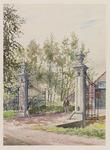 VERHEUL-NR-330 Inrijhek met arduinstenen hekpijlers van de boerderij Alexander-Hof , NumansdorpEigendom van J.M.C. de ...