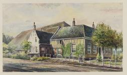 VERHEUL-NR-344 Boerderij tegenover het tramstation (Koninginneweg 1-3) in Numansdorp.Eigendom van Herman van der Waal.
