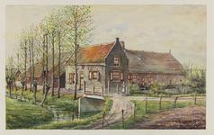 VERHEUL-NR-348 Boerderij Bouwlust , Zinkweg in Nieuw-Beijerland.Eigendom C.M. Stolk.Huidige situatie: afgebrand.