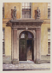 VERHEUL-NR-416 De hoofdingang van het vroegere Oude Mannenhuis aan de Hoogstraat nummer 125.Gebouwd door de bouwmeester ...