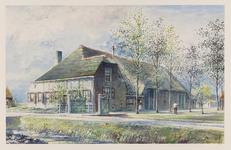VERHEUL-NR-465 Boerderij, Land van Essenweg in Strijen.Eigendom van weduwe Corn. Steenbergen te Strijen.Bewoners A. en ...