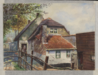 VERHEUL-NR-61 Gezicht op boerenarbeiderswoning Het Fort aan de Boschelaan in de polder Blankenburg in Rozenburg in ...