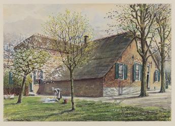 VERHEUL-NR-90 Schoonhoven, Lopikkervaart.Aan de Lopikkerweg west 88, Schoonhoven.Boederij.Eigenaar Floris van Kats.