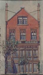 XXV-449-00-01-2 Gezicht op de achterzijde van het huis van J. Verheul Dzn. aan de Mauritsweg nummer 46, uit het oosten.