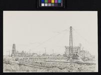 IX-279 De Blaak met rechts het pand van de Nederlandsche Handel Mij in aanbouw, vanaf de Leuvehaven. Op de voorgrond de ...