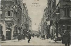 PBK-10533 Korte Hoogstraat, vanuit het zuiden. Links de Boijmansstraat en rechts de Soetensteeg. Op de achtergrond ...