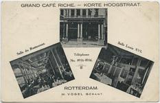 PBK-10536 Korte Hoogstraat, vanuit het zuiden. Links de Boijmansstraat en rechts de Soetensteeg. Op de achtergrond ...