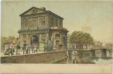 PBK-10693-2 De Schiekolk en de Schiebrug met links daarvan de Delftse Poort aan het Delftsepoortplein, vanaf de ...