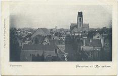 PBK-10723 Luchtopname van de Sint-Rosaliakerk en de Sint-Laurenskerk en omgeving.