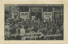 PBK-10750 Prijswinnaars bij de loterijwinkel Gelukskantoor L. Wolf, op de hoek Gedempte Binnenrotte - Meent.