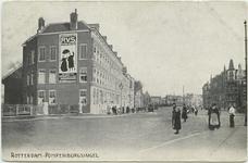 PBK-10787 Pompenburgsingel, in de richting van de Goudsesingel,vanaf de Langebrug.