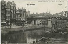 PBK-10829 Deel van het Steiger tussen de Grotemarkt en Boerensteiger, later Middensteiger genoemd. Op de achtergrond de ...