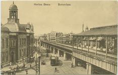PBK-10847 Station Beurs en links het Beursgebouw aan het Beursplein.