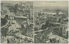 PBK-10875-1 Links: De Kolk met de kleine draaibrug, gezien uit het noordwesten en rechts: Overzicht vanaf de Grote of ...