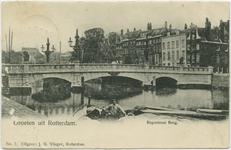 PBK-10936 De Regentessebrug over de Wijnhaven. rechts de Posthoornsteeg.