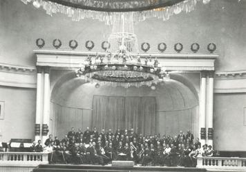 1969-1578 Koninklijke Orkestvereniging Symphonia in de Grote Doelezaal van De Doele aan de Coolsingel.