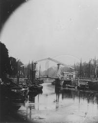 1971-308 De Blaak met de oude ophaalbrug (Keizersbrug/Houtbrug?).