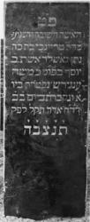1974-4896 Een grafzerk op de Israëlitische begraafplaats aan het Toepad, rij 12 nummer 23.