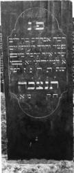 1974-4899 Een grafzerk op de Israëlitische begraafplaats aan het Toepad, rij 12 nummer 26.