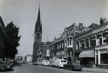 1978-1642 De Goudse Rijweg, vanaf de Florastraat. Op de achtergrond de kerk van de Allerheiligste Verlosser.