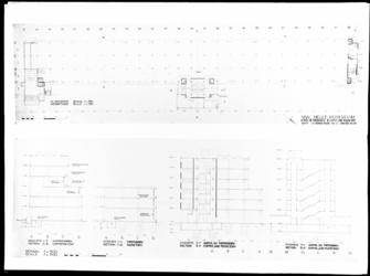 1978-3647 Plattegrond en doorsneden van de Van Nellefabriek aan de Van Nelleweg 1.
