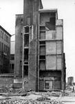 1979-1175 Puinresten na het bombardement van 14 mei 1940. De Botersloot met vernielde telefoondienst, uit het zuiden.