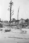 1979-1383 Gezicht op de door het Duitse bombardement van 14 mei 1940 getroffen Tweeleeuwensteeg. Gezien naar het ...