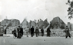 1979-1479 Restanten van panden aan de Weteringstraat, als gevolg van het Duitse bombardement van 14 mei 1940.