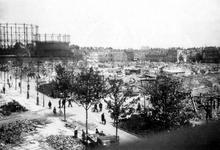 1979-1522 Overzicht van de door het Duitse bombardement van 14 mei 1940 getroffen gebied tussen de Oudedijk en de ...