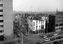 1979-635 Gezicht op de Saftlevenstraat met op de voorgrond de Rochussenstraat. Gezien vanaf het dak van het Instituut ...