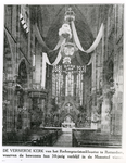 1982-200 De versierde kerk ter ere van de jubilerende paters en broeders van de Allerheiligste Verlosser aan de Goudse ...