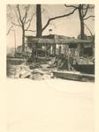 1982-2094 Gezicht op de door het Duitse bombardement van 14 mei 1940 getroffen Grotemarkt. Restanten van een bus en ...