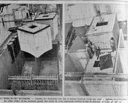 1982-2476 Constructiewerk aan de Merwehaven. Werk in het betondok.