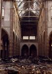 1982-2713 De rooms-katholieke kerk Allerheiligste Verlosser aan de Goudse Rijweg, in 1979 door brand verwoest.