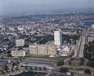 1982-3420 Luchtopnamen van het Centrum en Dijkzigt.