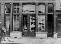 1982-493 Het Volkskoffiehuis, vergaderzaal van de Sociaal- Democratische Bond Rotterdam, aan de Gedempte Binnenrotte ...