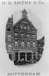 1983-3250 Pand de Oost-hoeck van firma H.G. Aikema & Co. aan het Oostvestplein, tegenover de Boezemsingel.