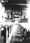 1983-3302 Kansel en kerkorgel van de Waalse kerk aan de Boshoek.
