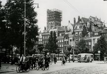 1983-3657 De Grotemarkt.Op de achtergrond de toren van de Sint-Laurenskerk.