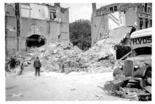 1984-1454 Restanten van panden aan de Schietbaanlaan, als gevolg van het bombardement in de nacht van 11 op 12 mei 1940