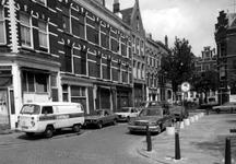 1986-426 Palmdwarsstraat met rechts de Palmstraat gezien vanuit de Bloemstraat. Op de achtergrond de Coolsestraat.